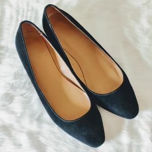 Talbot's Square Toe Suede Flats